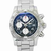 Breitling Avenger Ii Chronograph A13381 Date Black Dial Mens Watch 90124156