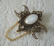 Triple Moon Goddess Brooch, Cloak Pin Wiccan Pagan Wicca Witch Witchcraft Gothic