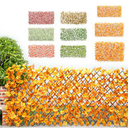 Artificial Garden Screening Trellis Expanding Wooden Fence Plant Maple Leaves