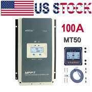 Epever 60a 80a 100a Mppt Solar Charge Controller Regulator+mt50 12/24/36/48vdc