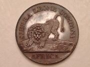 - 1791 One 1 Cent Proof Sierra Leone Colony George Iii -only 400 Minted