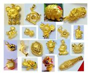 24k Pure Gold Pendant Real Au 999 Solid Gold Charm Fine Jewelry Animal Gift