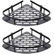 10x2-pack Corner Shower Caddy No-drilling Adhesive Shower Shelf Stainless Steel