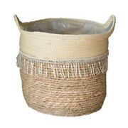 10xwoven Seagrass Tummy Basket Is Used To Store Plant Basket Or Toy Basket