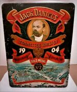 Vintage Jack Daniels Whiskey Tin Box 1904 St. Louis Mo Expo. Made In England