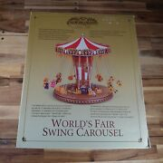 Gold Label Collection World's Fair Swing Carousel Music Box With 30 Songs Issue
