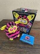 Furby Boom Talking Interactive Pink Black Stripes Hasbro 2012 Tested With Box