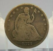 1875 50c Seated Liberty Silver Half Dollar - Us Coin - H2275