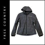 Free Country Womenand039s Wind Breaker Fleece Jacket Size Large Gray