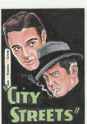 2008 Breygent Movie Posters Stars Monsters Comedy City Streets Sketch Art Card