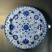 Chinese Antique Porcelain Blue And White Plate Qing Dynasty Warming Plate Rare