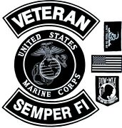 U.s. Marine Corps Veteran Semper Fi Military Motorcycle Lot Of 6 Patches