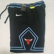 Nike Chicago Bulls Courtside Collection City Edition Shorts Mens Size Medium Blk