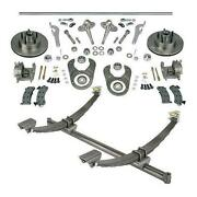 44 Inch Gasser Ford Axle/spindle/brake Kit Wilwood Forged Dynalite