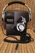 Sony Mdr-v700 Dj Dynamic Stereo Headphones With Adapter Work Great