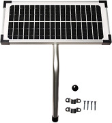10 Watt Solar Panel Kit Fm123 For Mighty Mule Automatic Gate Openers,black Cell