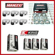 Manley 84.00mm 10.2 Cr Std Piston And H-beam Rod And Bearing Set For Bmw N54b30