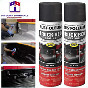 Black Truck Bed Liner Trailer Coating Spray Protection Automotive Paint 15oz 2pk
