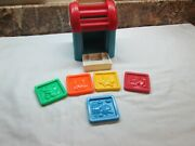 Vintage Fisher Price Sort And Stack Mailbox Toy 1025 5 Color Letters Mail Usa