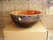 Longaberger Halloween Party Boo Bowl Candy Trick-or-treats Nib Pottery Free Ship