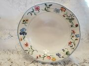 Villeroy And Boch Bone China Mariposa Cereal Bowl 7 5/8 Floral Blue Trim