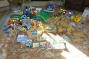 Geotrax Train Huge Lot Workin Town Railway Grand Central Station 4-remote Trains