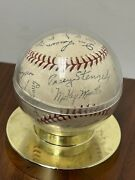 Most Players 58 Yankees Auto Baseball Stamp Ball Or Authentic Idk Mickey Mantle