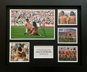 Van Basten And Gullit Signed Netherlands Photo In 20x16 Frame Display Exact Proof