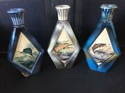 3 Vintage Empty Beams Choice James Lockhart Fish Whiskey Decanter Bottle Trout
