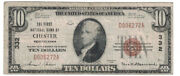 U.s. Chester Oh - Series Of 1929 10.00 National Currency Banknote