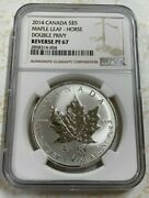 2014 Canada Silver Maple Leaf 5 Double Horse Privy Reverse Proof Ngc Pf 67