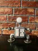 Industrial Pipe Robot Lamp And Cell Phone Charging Station Mr. 4 Outlets