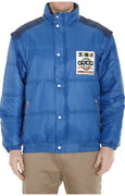 Patch Detail Padded Bomber Jacket / With Tags- Rrp2900 Aud