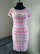 Lace Crochet Dresses Summer Cotton Exclusive Mesh Knit Tunic Fishnet Hand Made