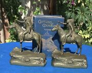 Vintage Jennings Brothers Bookends, Indian Scout,, Circa 1927