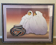 Rc Gorman Signed Original Lithograph 1985 127/224 Taos Traders Authentic