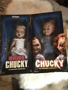 Chucky Doll And Bride Of Chucky 14andrdquo Set Side Show Collectible Authentic