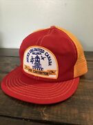 Vintage 1991 Ducks Unlimited Canada Convention Snapback Hat Red Yellow Halifax