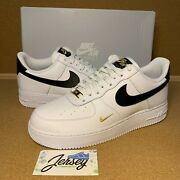 Womenand039s Nike Air Force 1 Essential Size 9-11 Gold / White / Black Cz0270-102