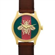 G-timeless Ya126451a Green And Red Dial Unisex Watch Genuine Freesandh