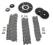 1990 1991 Polaris Trail Boss 350l 4x4 Non O Ring Chains And Complete Sprocket Set