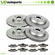 Brake Pads And Rotors Front Rear For Mercedes Benz Ml320 Ml350 2008-2011 Drilled