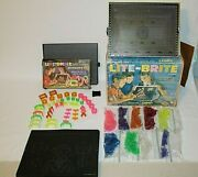 Vintage Hasbro 1967 5455 Lite Brite--with 580+ Pegs, Box, Accessory Kit Working