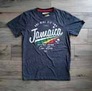 Men Medium Jamaica Limited Edition T-shirt Dark Gray Life Style One Love Vintage