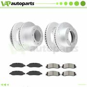 Brake Pads And Rotors Front Rear For Ford F-250 Super Duty 2005-2007 4wd Drilled