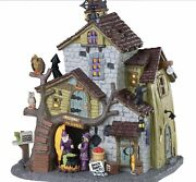 Lemax Spooky Town Witch And Warlock Residence 85308 Bnib Lighted Scary Building