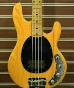 Music Man Stingray4 Natural 2004 Used Maple Neck Maple Fingerboard W/soft Case