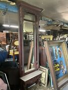 Outstanding Heavily Carved Eastlake Victorian Marble Top Pier Mirror Wow