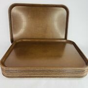 12 Vintage Kys-ite Serving Trays Cafeteria Restaurant 112 Brown Usa 16.5 X 12