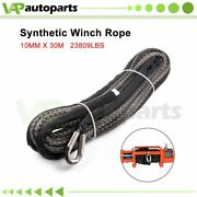 2/5 X 100ft Winch Rope 23000lbs Off-road Atv Utv Synthetic Rope Line Recovery